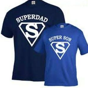 "BEAUTIFUL SET OF TEES "" SUPERDAD"" ""SUPERSON"""